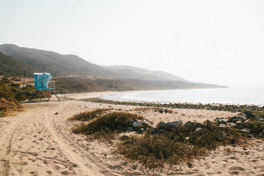 Beach Scene in Malibu