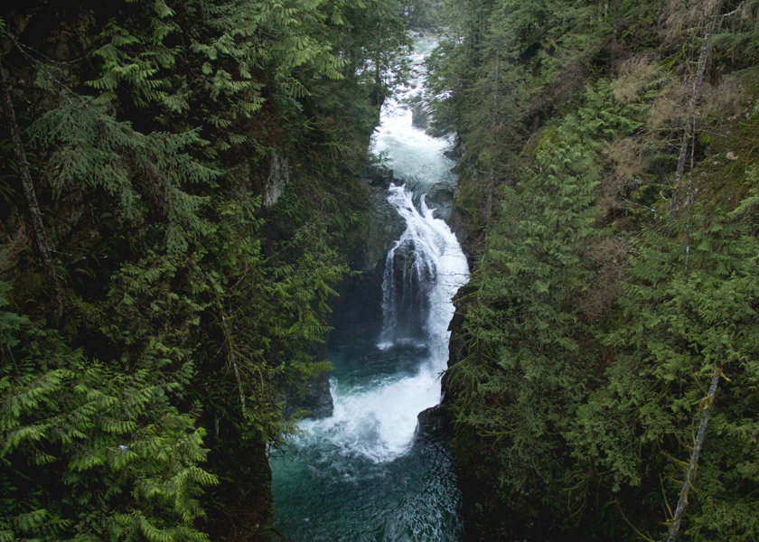 Waterfall in Lynn Canyon, North Vancouver
