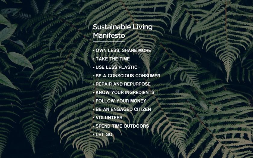 Sustainable Living Manifesto