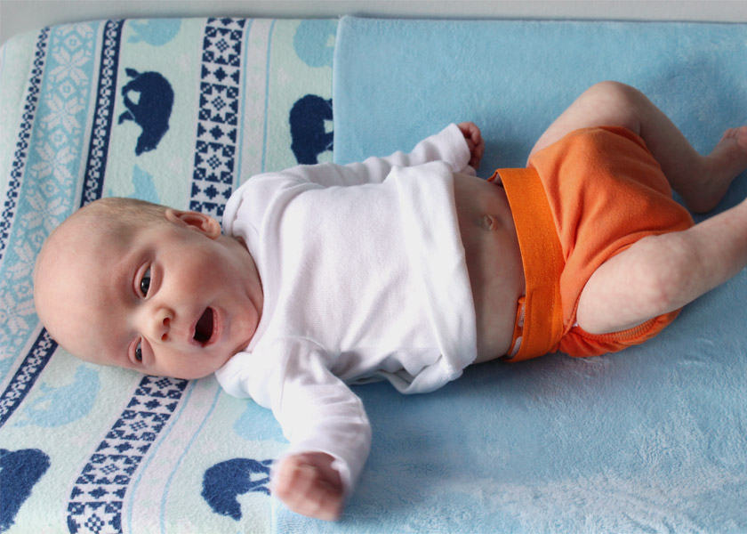 Baby wearing eco-friendly diapers