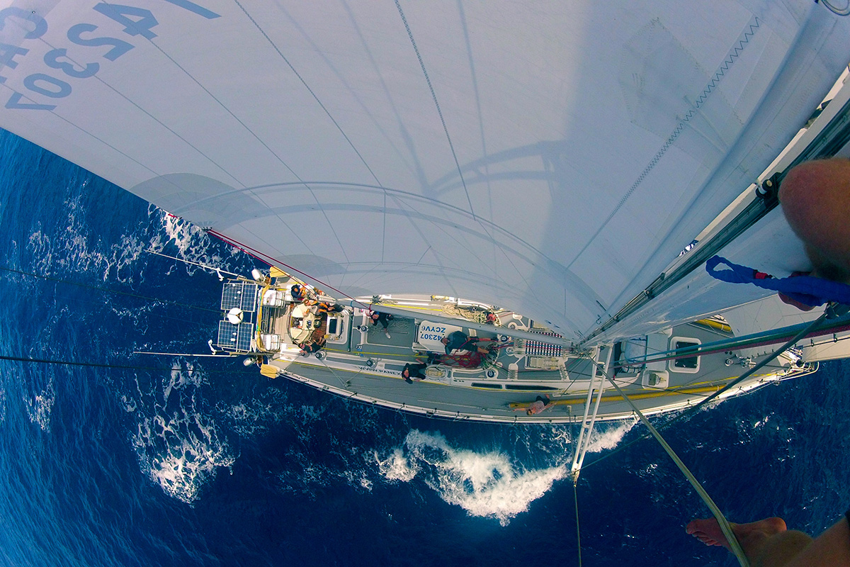 The Sea Dragon Yacht from Above