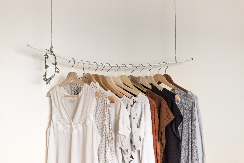 Clothing Hanging on a rod