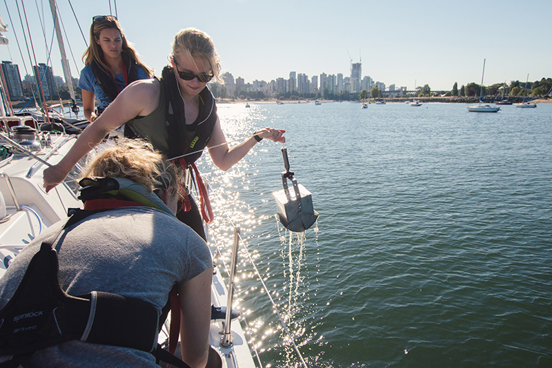 Sediment sampliing for microplastics in Vancouver on exxpedition North Pacific