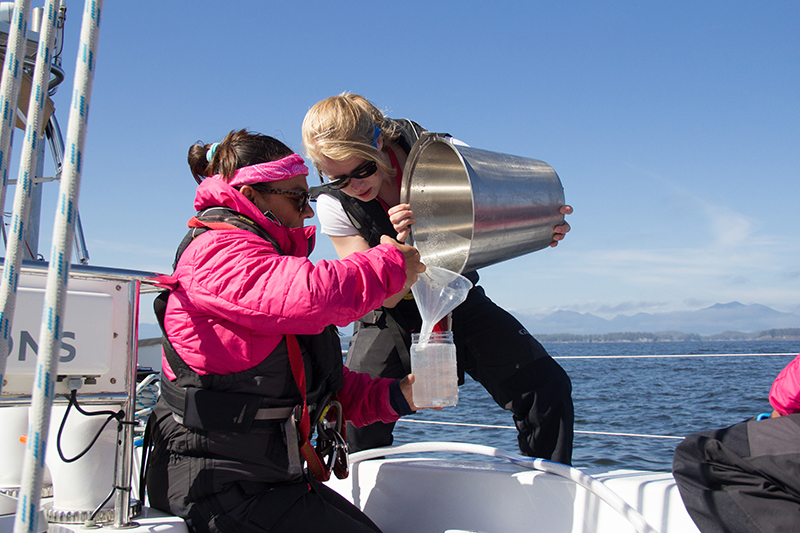 Nanoplastic water sampling on exxpedition North Pacific